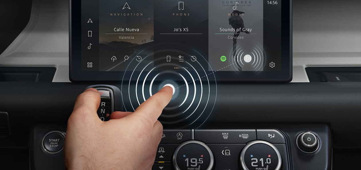 Автомобили Jaguar и Land Rover получат бесконтактный сенсорный дисплей