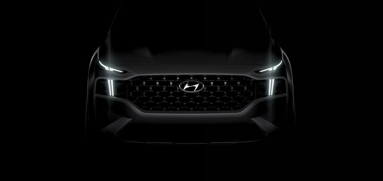 Hyundai выложил тизер обновленного Santa Fe
