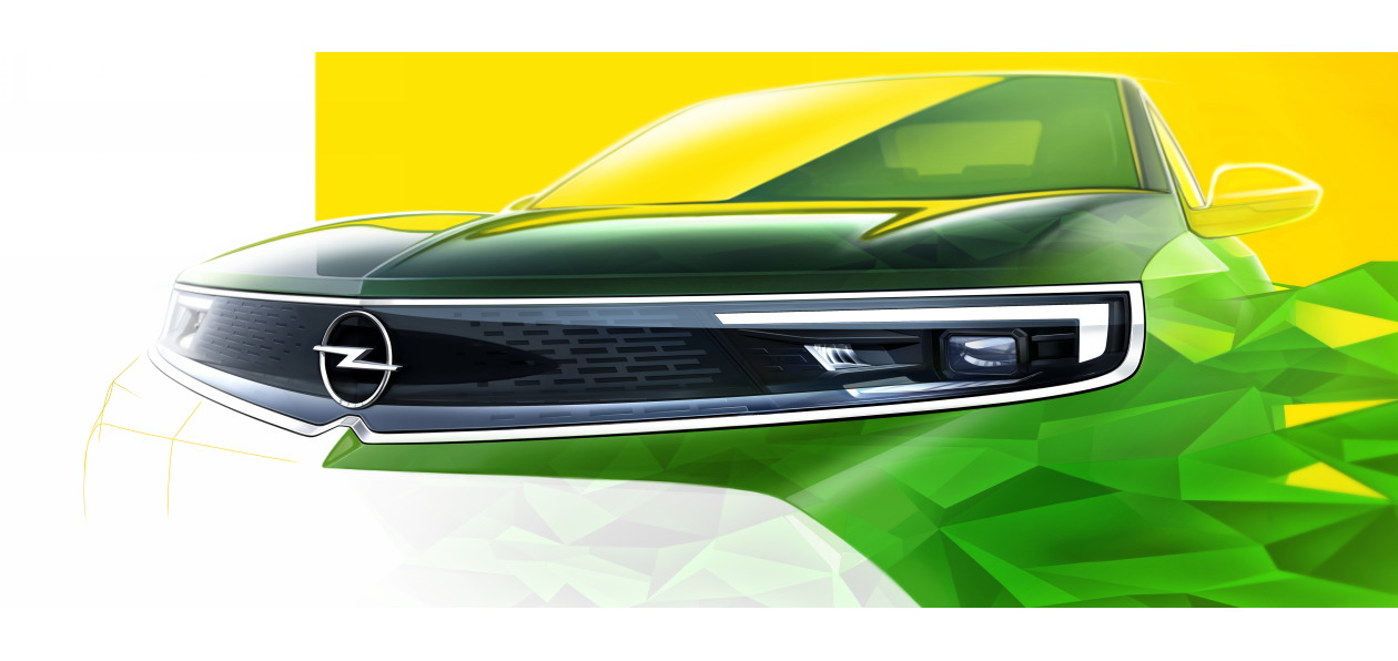Opel выложил скетч нового Mokka