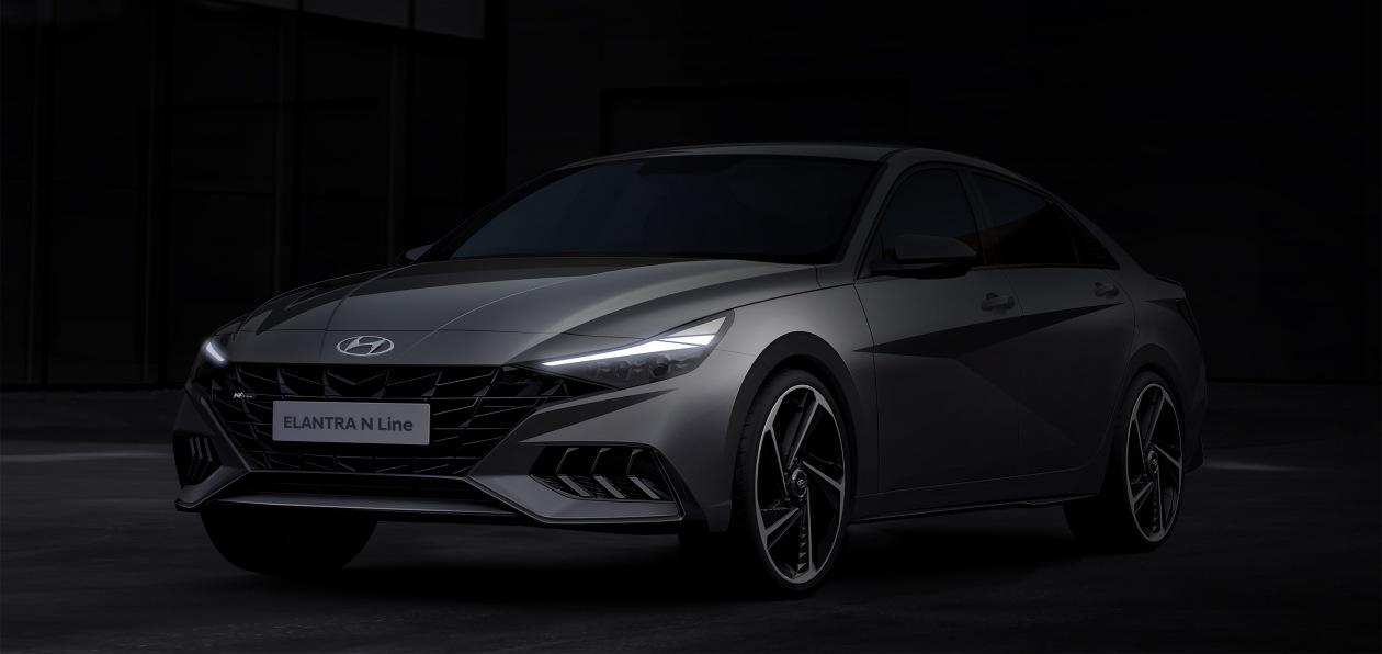 Hyundai показал, как будет выглядеть новая Elantra N Line