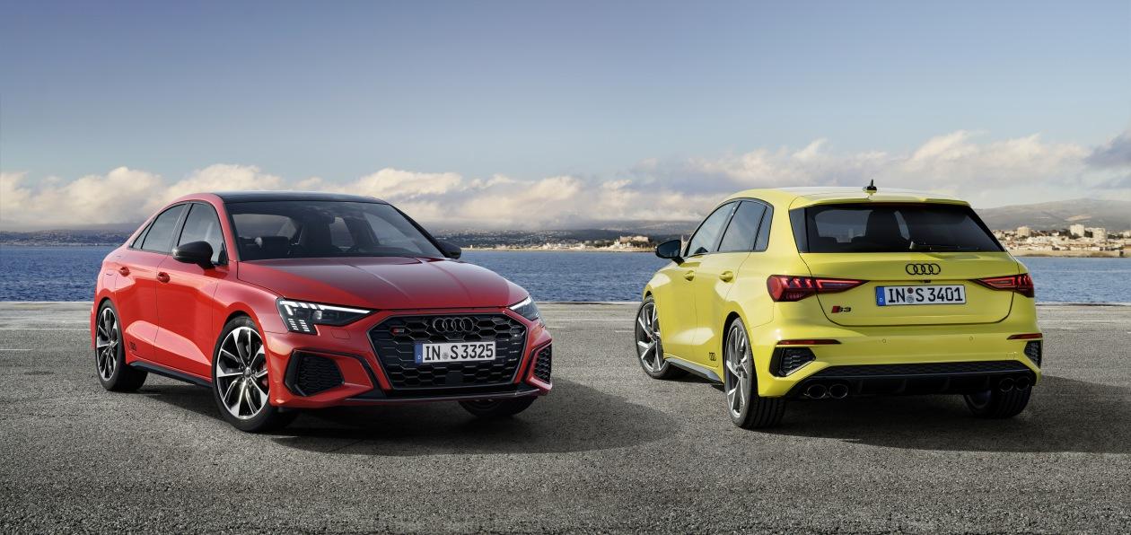 Audi показала новые седан и хэтчбек S3