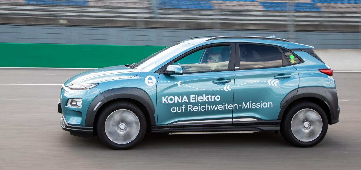 Hyundai Kona Electric установила рекорд дальности пробега