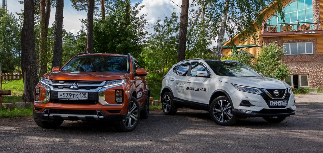 Тест-драйв обновленного Mitsubishi ASX 2020 и Nissan Qashqai: сравниваем топовые комплектации