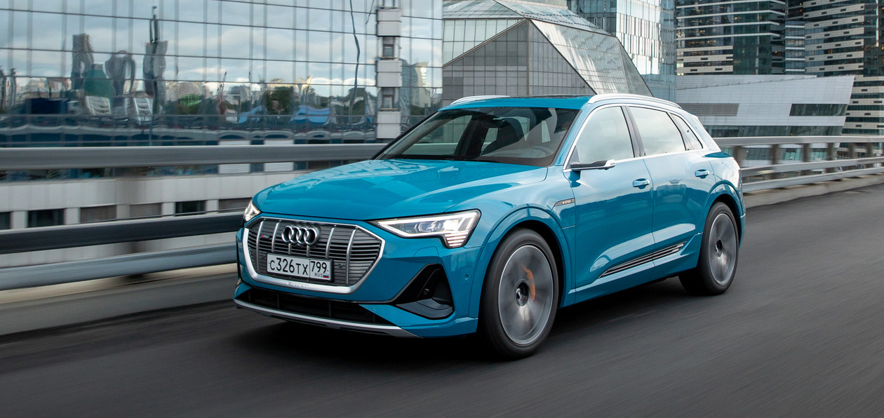 Встречаем Audi e-tron: первый тест немецкого электромобиля в России