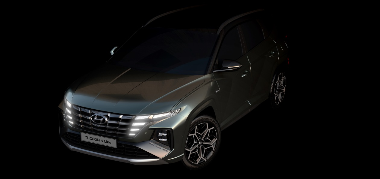 Hyundai выложил первые тизеры кроссовера Tucson N Line