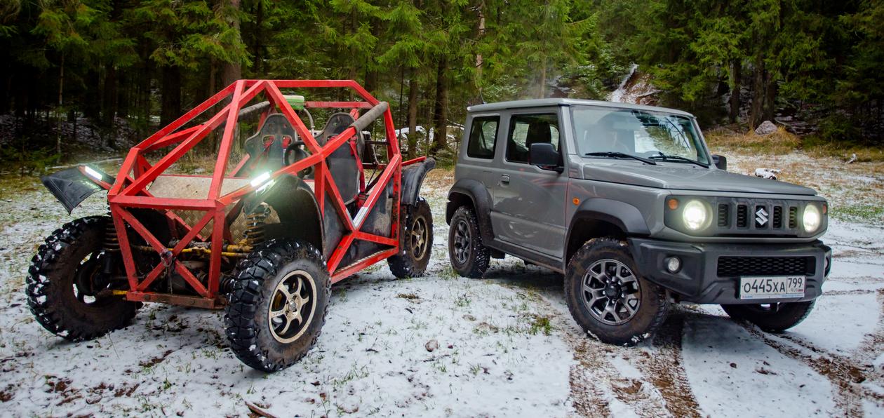Тест-драйв нового Suzuki Jimny против багги: внедорожное веселье