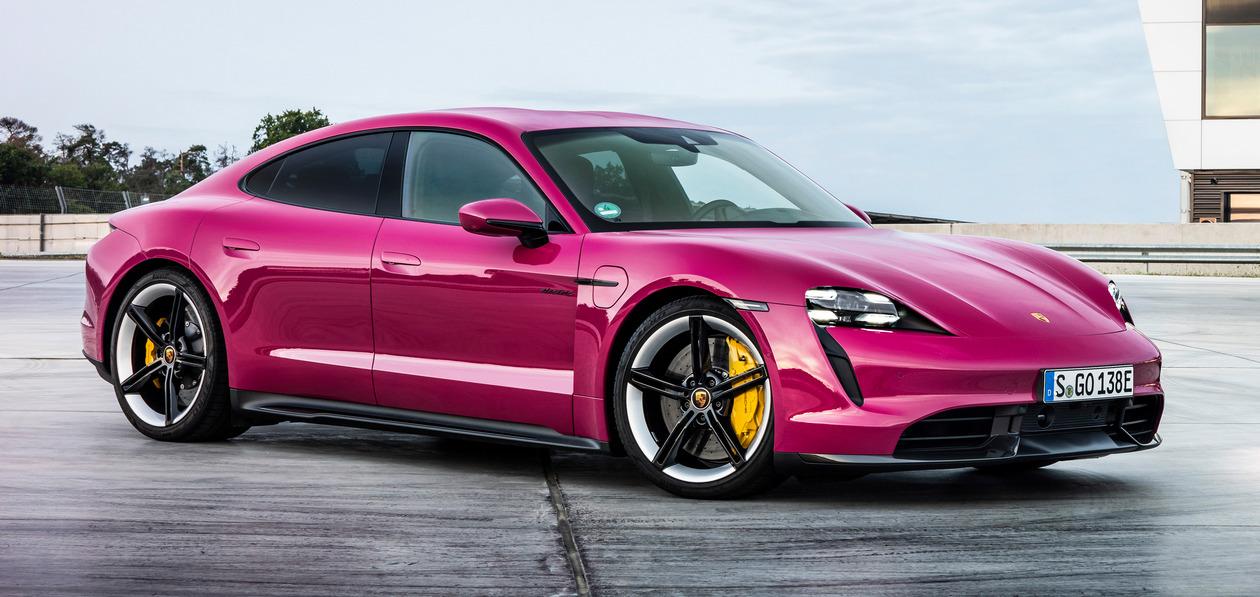 Обновленные Porsche Taycan получат увеличенный запас хода и яркие цвета