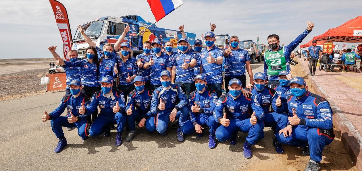 «КАМАЗы» заняли весь призовой подиум на ралли «Дакар 2021»