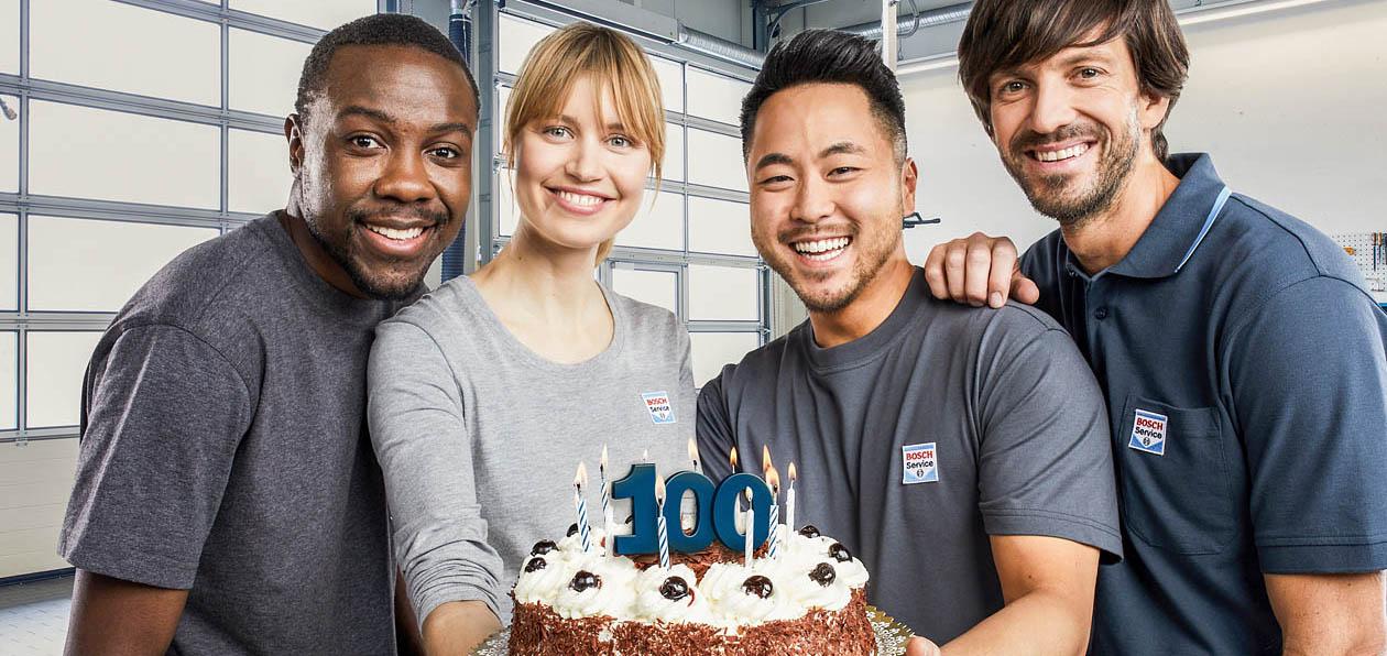 100-летний юбилей сети Bosch Auto Service: безопасность, основанная на опыте
