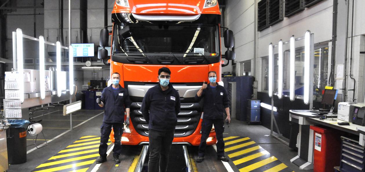 DAF выпустил первый грузовик после возобновления производства