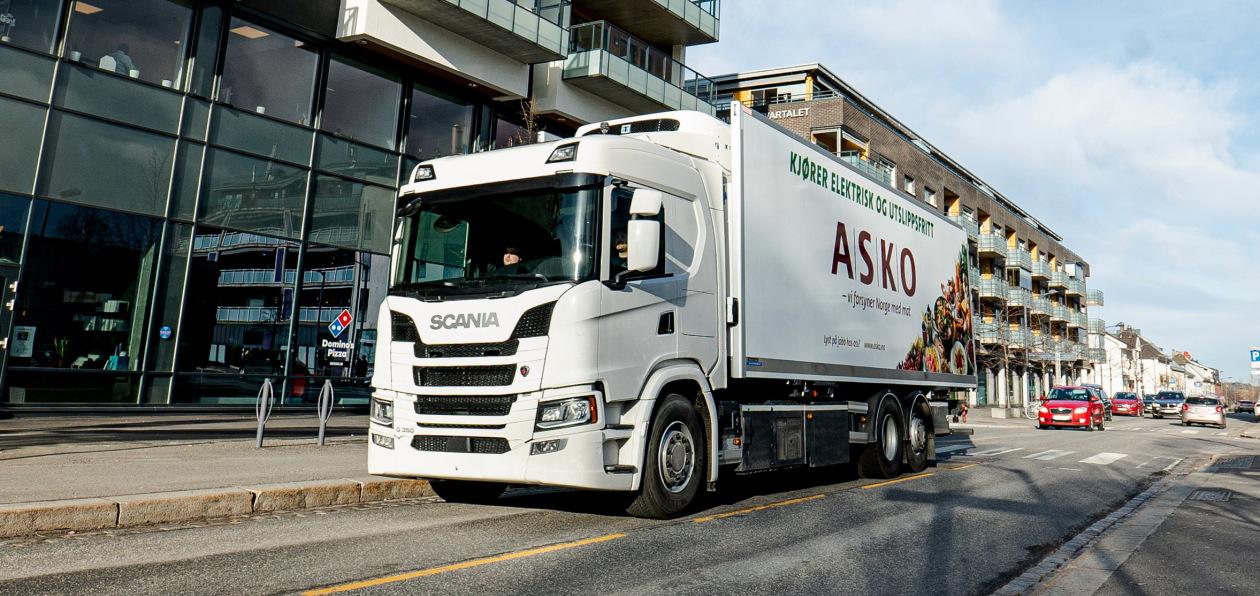 Электрогрузовики Scania будут работать в Норвегии