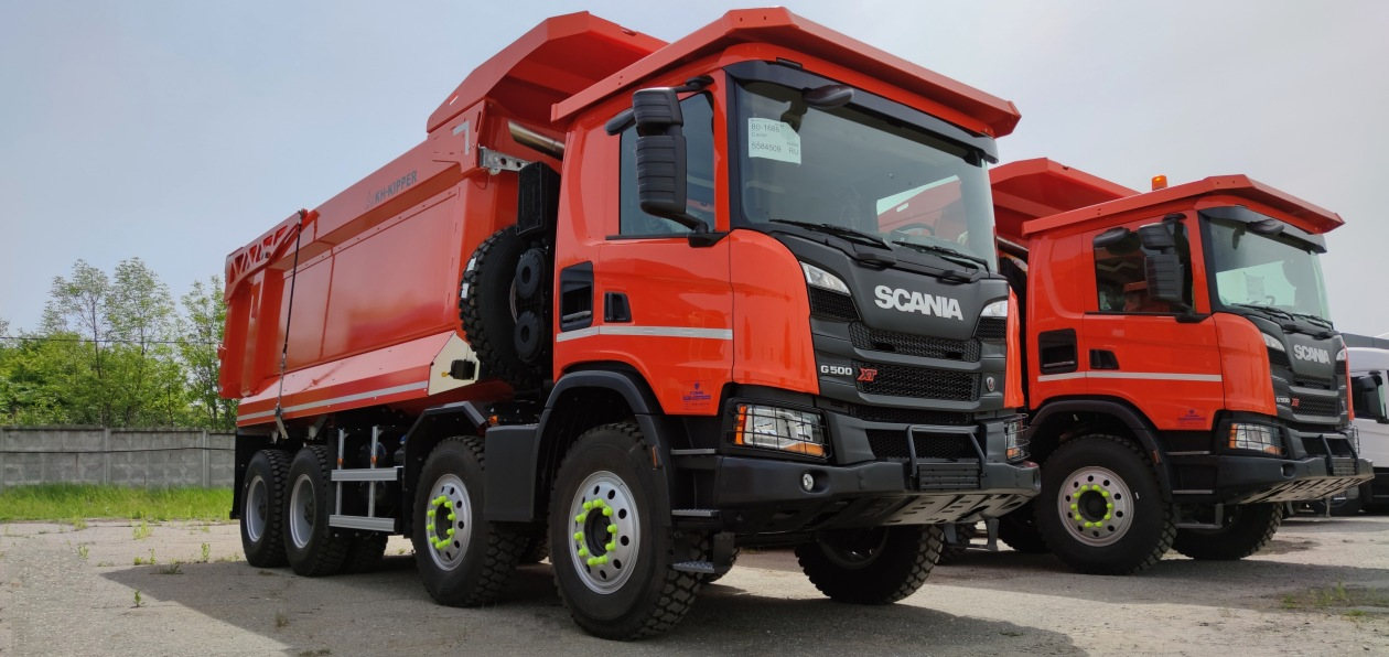Самосвалы Scania начали работать под Новороссийском