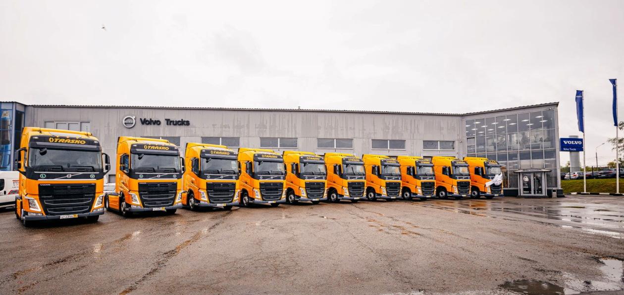 Volvo Trucks поставила «Траско» 20 седельных тягачей