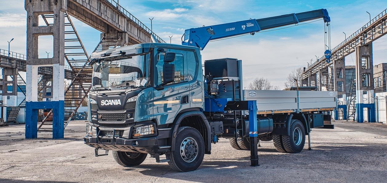 Кран-манипулятор на полноприводном шасси Scania будет работать на Камчатке