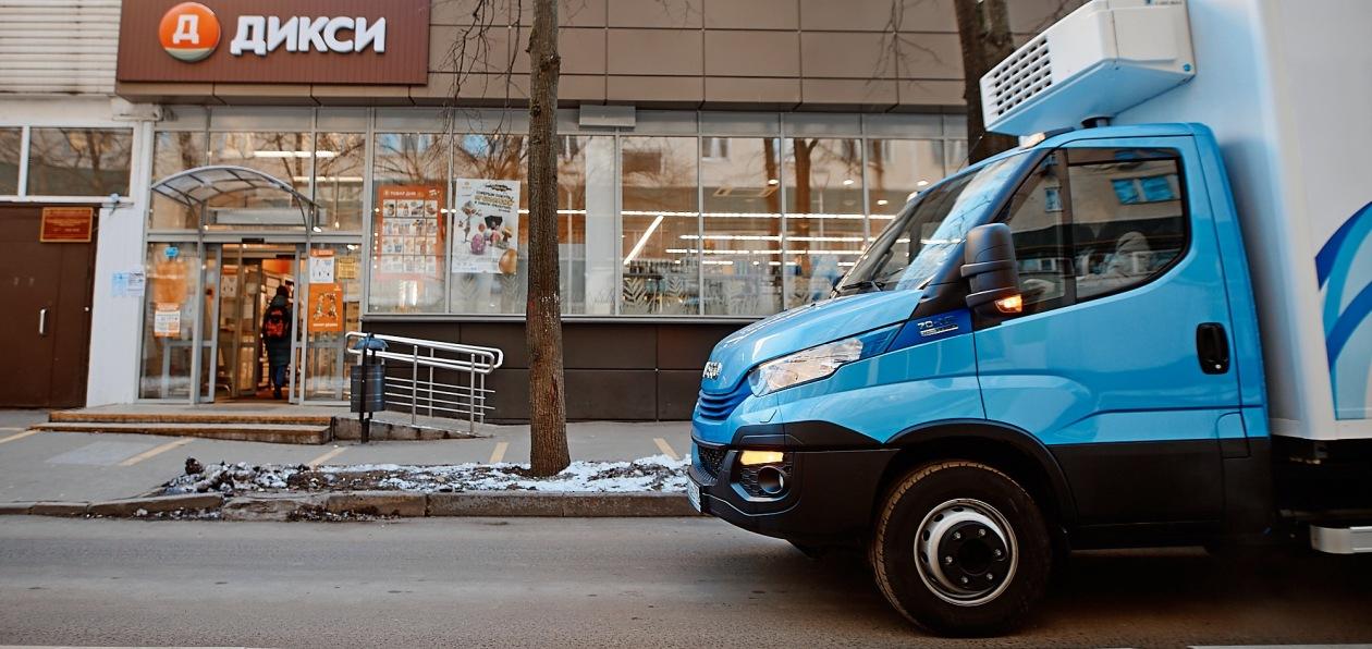 «Дикси» начал тестировать газовые грузовики Iveco