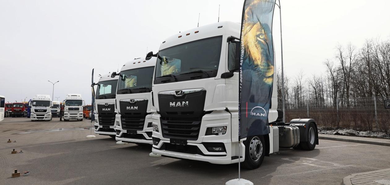 MAN поставил в Россию первые грузовики нового поколения