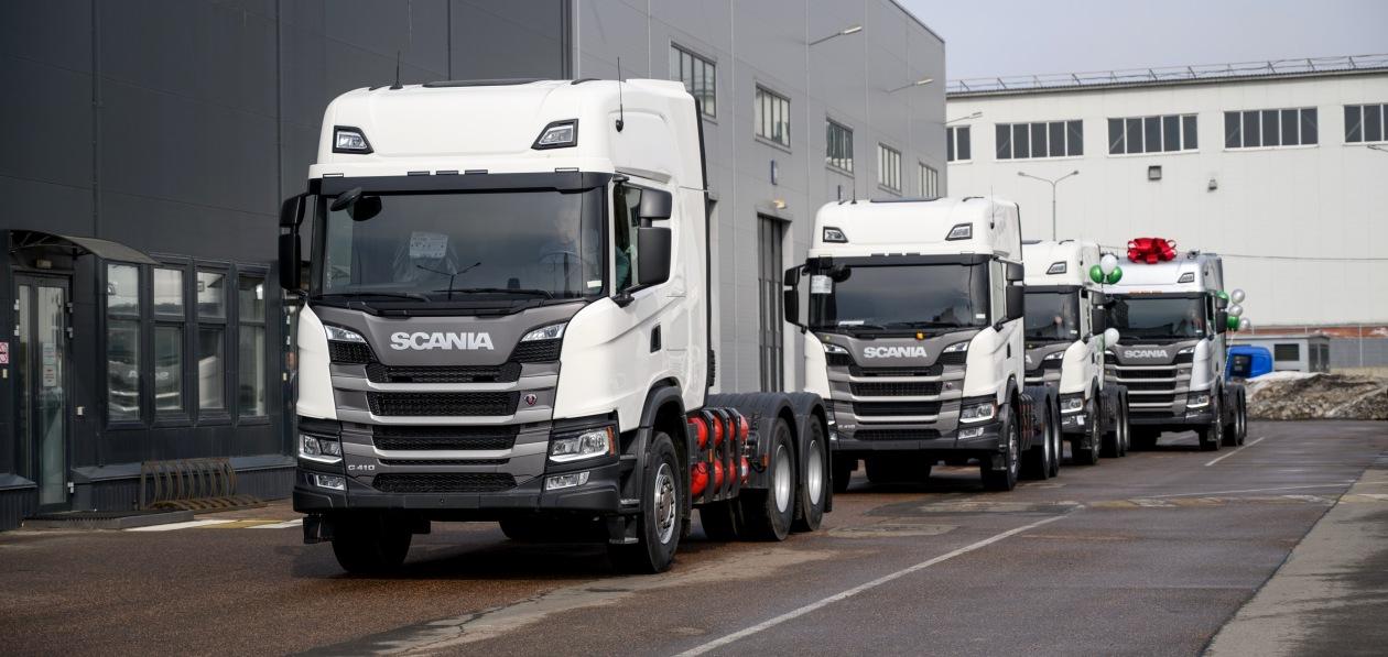 Scania привезла в Россию тысячный газовый грузовик