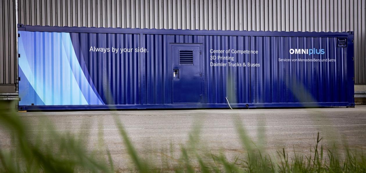 Daimler разработал мобильный центр 3D-печати запчастей для автобусов