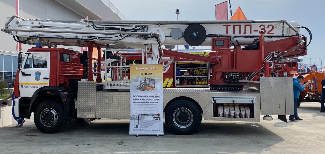 ИМЗ «Автокран» показал новый автоподъемник для пожарных