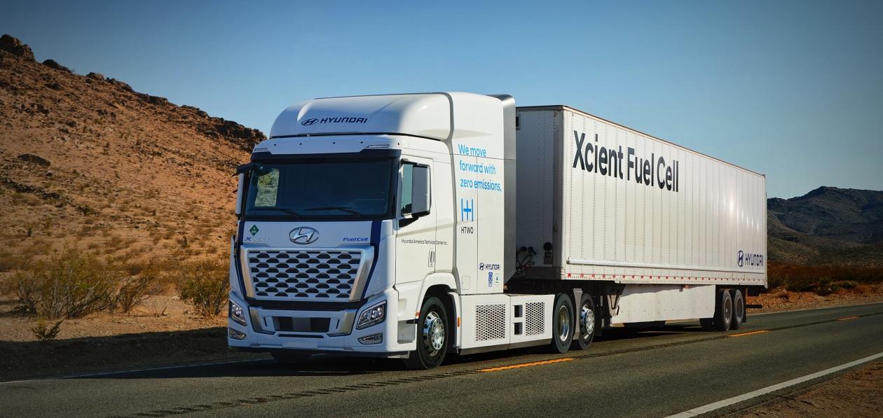 Водородные тягачи Hyundai начнут возить грузы в Калифорнии