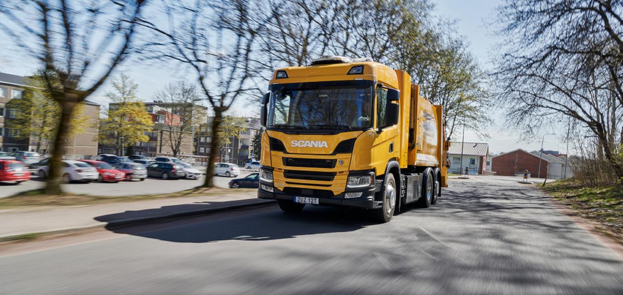 Водородный мусоровоз Scania начал работу в Гетеборге