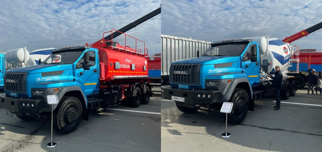 Урал представил бетономешалку и топливозаправщик на новом шасси
