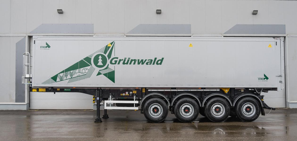 Grunwald выпустила на рынок четырехосную модель алюминиевого самосвального полуприцепа