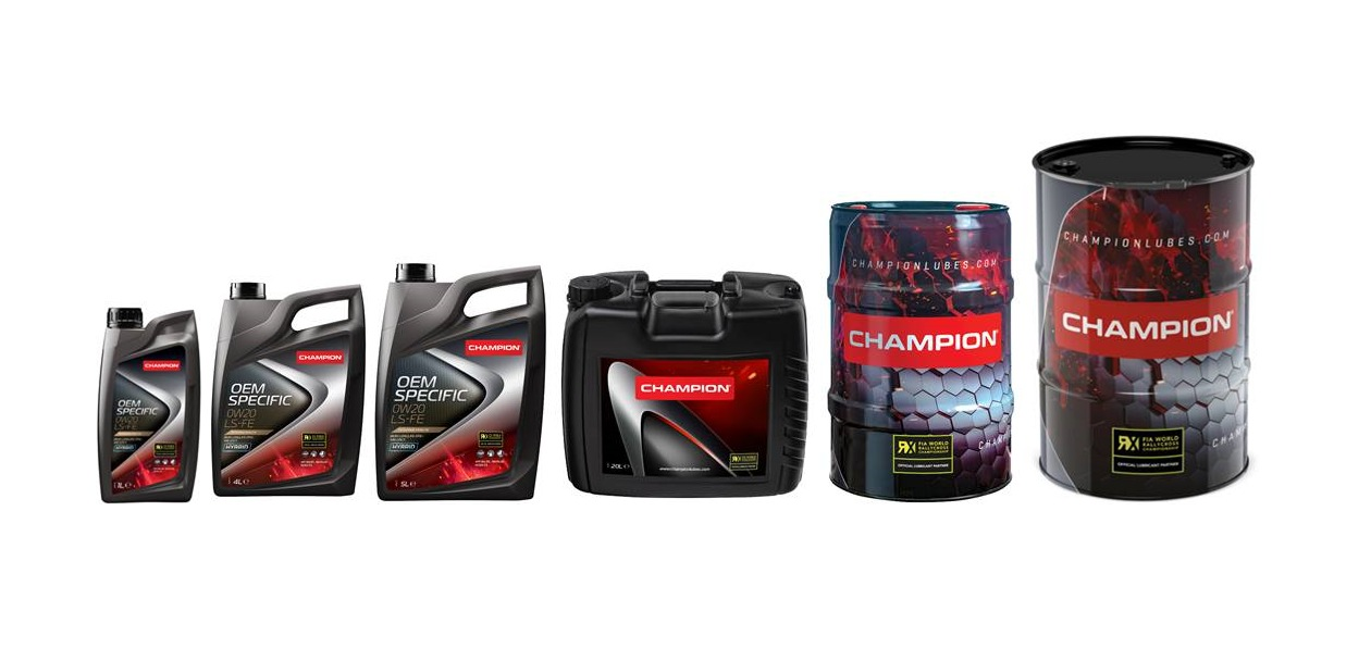 Champion Lubricants представил канистры и бочки нового дизайна