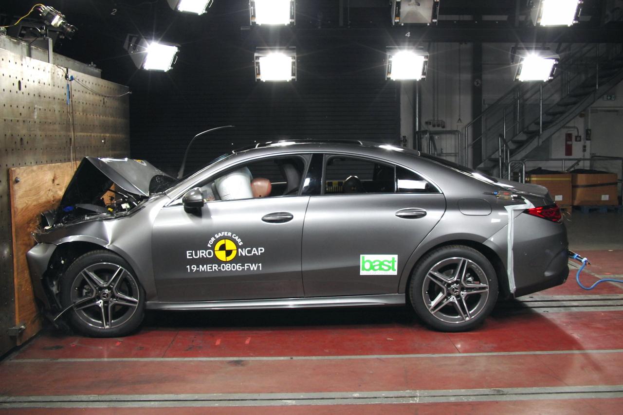 В Euro NCAP разбили Mercedes CLA Audi A1 и электрический Mercedes EQC