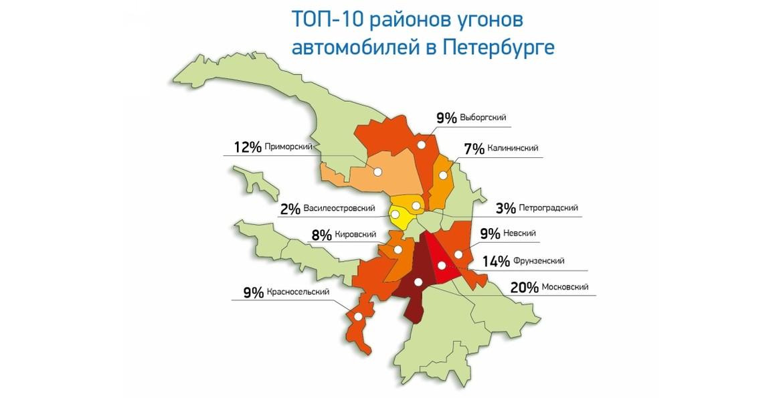 Вследующем году наиболее популярным районом Петербурга уавтоугонщиков стал Московский