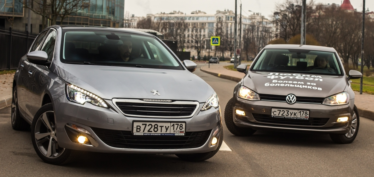 Тест-драйв New Peugeot 308 vs Volkswagen Golf VII