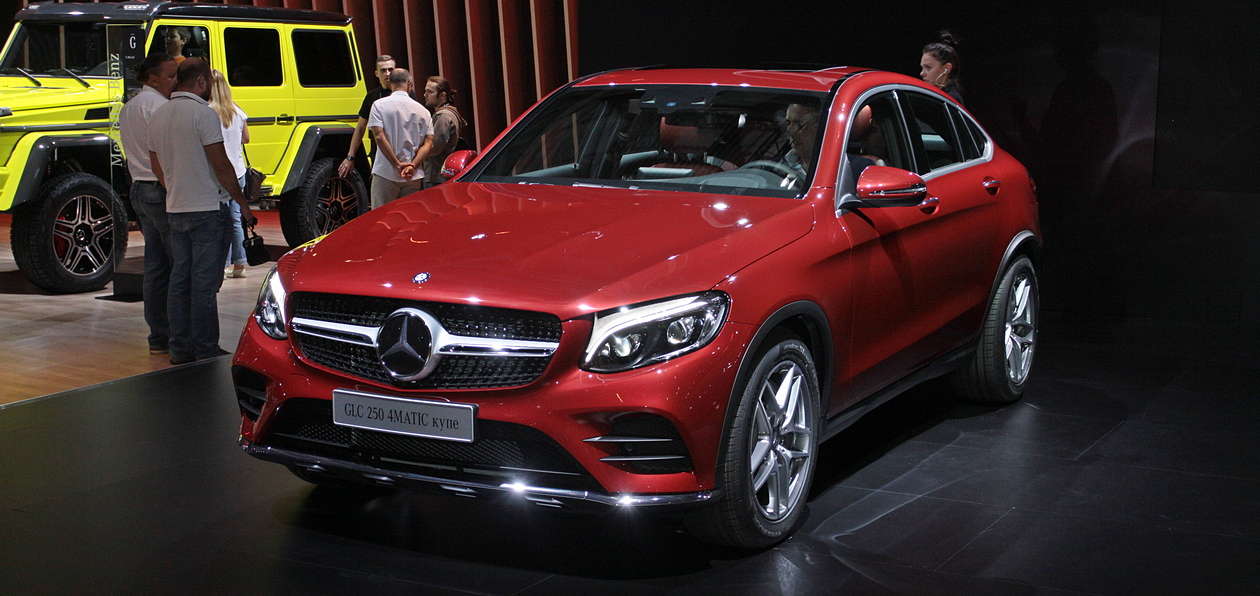 ММАС 2016: Mercedes GLC Coupe доедет до России в сентябре